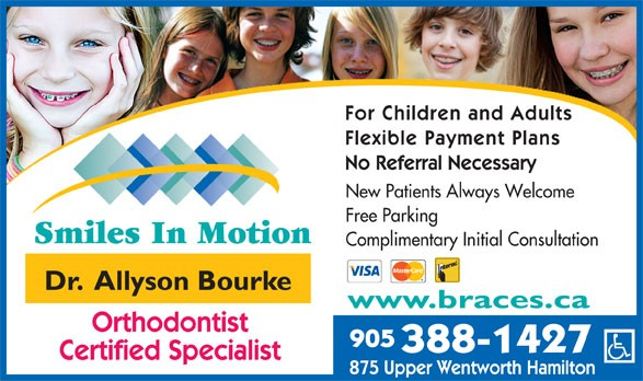 Smiles in Motion, Dr. Allyson Bourke, Certified Orthodontic Specialist